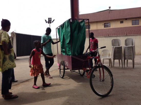 The WeCycle recycling trike in Nigeria