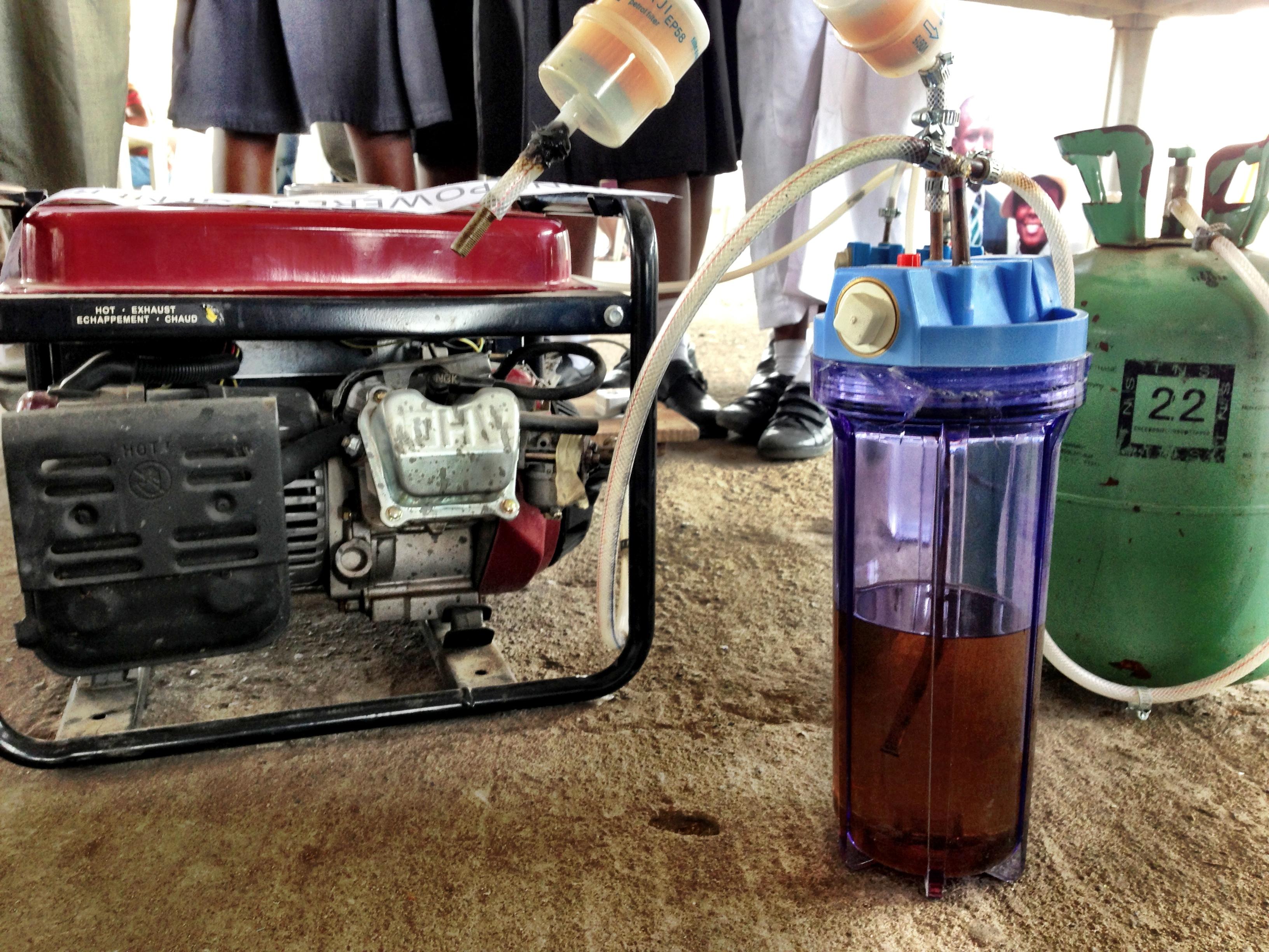 A Urine Powered Generator Maker Faire Africa